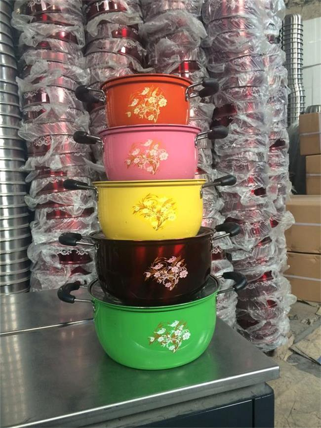 colorful cookware set