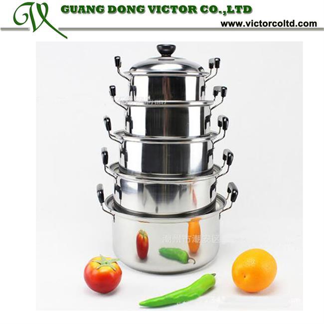 5pcs Stainless Steel cookware American Style High Pan panci set ...